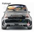 グラフィック デカール ステッカー 車体用 / フィアット 500 2020 / リアウィンドウ フィッシングデザイン