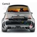 グラフィック デカール ステッカー 車体用 / フィアット 500 2020 / リアウィンドウ カモハンティングデカール