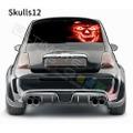 グラフィック デカール ステッカー 車体用 / フィアット 500 2020 / リアウィンドウ スカルデカール