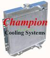 67-69 マスタング Champion 2層 アルミ ラジエター  パッセンジャーサイドアウトレット EC340