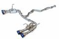 Invidia R400 GEMINI キャタバックマフラー ストレートカット チタンチップ スバルインプレッサ WRX/STi セダン 11-14