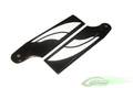 SAB 105mm Carbon Fiber Tail Blades (Black/White)  [BW105]