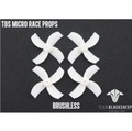 TBS MICRO RACE PROPS (WHITE) (1MM HUB)