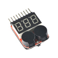 1-8S LiPO Battery Voltage Tester/ Low Voltage Buzzer Alarm (Supports 1S mode 3.7-30V)