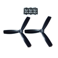 HQProp 5X4.5X3 Propeller - 2本 / Black【x-867】