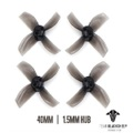 TBS MICRO BRUSHLESS PROPS 4BLADE 40MM (BLACK) (1.5MM HUB)