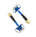 AOMWAY 5.8G Circular Polarized Antenna Pair - Short Edition, SMA, plug, Blue