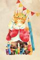 ポストカード【王様とちいさな街】