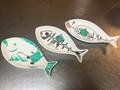 【完売御礼】ゴーヤ先生手描き 魚型皿