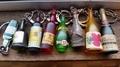 フレンチキーホルダー瓶系8個セット【中古ジャンク】
