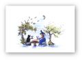 ポストカード「月にカンパイ!」