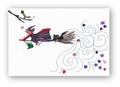 ポストカード「魔女と小鳥」