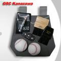 野球審判用ボールバッグ 帆布製 グレー