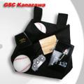 野球審判用ボールバッグ 帆布製 ブラック