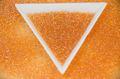 オレンジオーロラ 粒ガラス