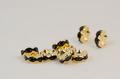 8×3.8 波型ロンデル(ゴールド) ブラック