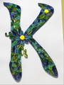 クイリング・アルファベットフレーム【K】(A4サイズ、サービスフレーム付)
