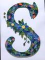 クイリング・アルファベットフレーム【S】(A4サイズ、サービスフレーム付)
