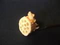 蓮に蛙根付