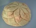 手紡ぎ手編み帽子 あじろ編み