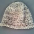 ループ毛糸の帽子