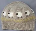 ひつじ柄編み込み帽子