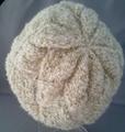 あじろ編み帽子