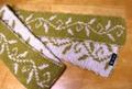 リバーシブル編みマフラー