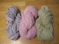 手紡ぎ毛糸 ループ撚り合わせ
