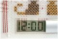 にゃんデジタル時計   <スケルトン:パール>