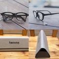 伊達メガネ+メガネケースセット(特製メガネ拭き付き)