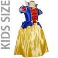 子供用ハート柄の白雪姫ドレスコスチューム