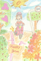 ポストカード「Happy Drive」/クロサキユキ
