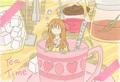 ポストカード「Tea Time」/クロサキユキ