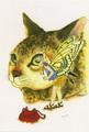 ポストカード「猫鏡」/田村紋子
