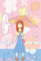 ポストカード「Happy tomorrow!!」/クロサキユキ