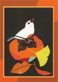 ポストカード「柿と白文鳥」/サトウユキエ
