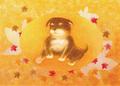 ポストカード「もみぢがり」/Atelier 壷中天