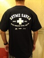 RHYME SAVER POCKET TEE -黒