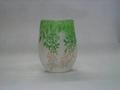 パウダー被せ2色扁平花瓶