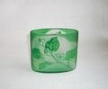 オーバルボックス緑 (どくだみ)