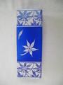 2色角花瓶       (葉模様)