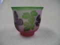 3色冷茶グラス     (蝶と葉)