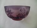2色抹茶碗 ピンク紫    (桜)