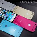 iPhone6 アルミバンパー+ロゴマークプレート
