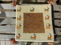 ミニギャベ「砂遊び」お買い得 売り切れ御免!インド手織絨毯