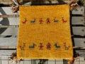 ミニギャベ「ダンス」お買い得 売り切れ御免!インド手織絨毯