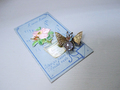 ヴィクトリアン 蝶のクリップ式 サフィレットブローチ