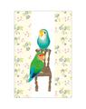 ポストカード(椅子とコザクラインコ)