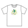 幸せの鳥 チャリティTシャツ(植物モチーフ白)